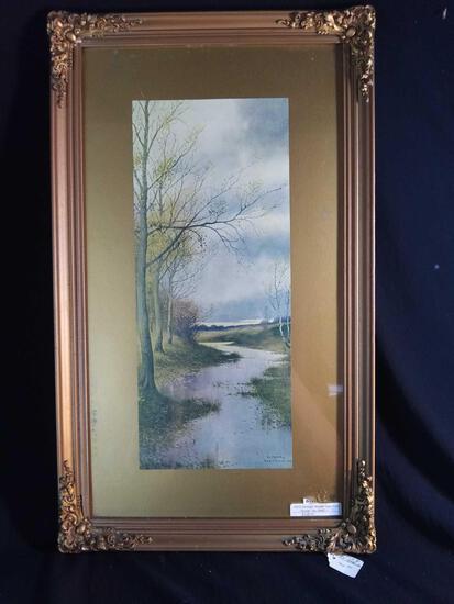Framed Artist George Howell Gay Landscape Print