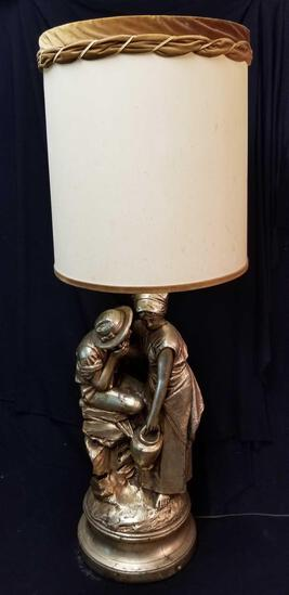 Astonishing replica of Pietro Bazzanti's REBECCA AT THE WELL, 3-way lamp, heavy
