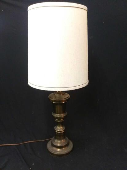 Light Weight Vintage Polished-bronze-look Table Lamp