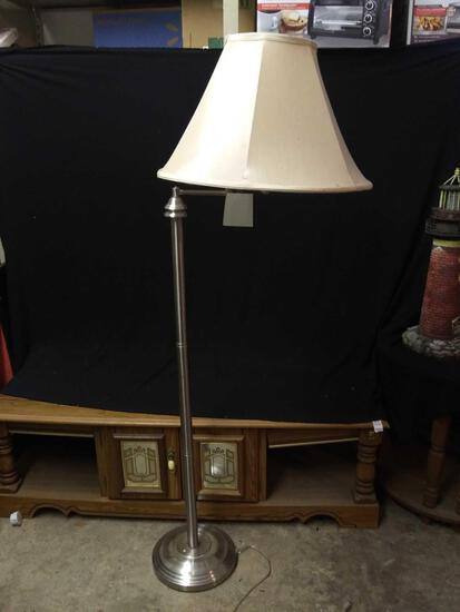 Polished-silver-style Standing Floor Lamp
