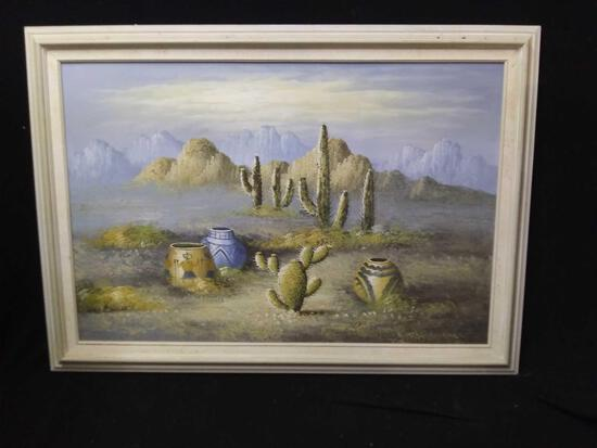 Very Bright Southwestern Style Oil Painting