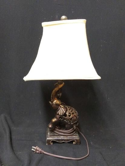 Small table lamps, resin elephant base