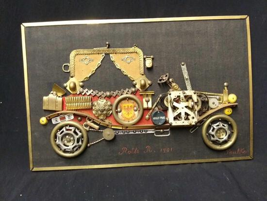 1901 Rolls Royce horological collage with signature