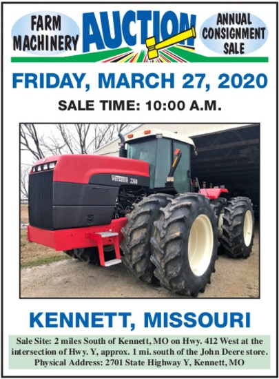 A FARM MACHINERY CONSIGNMENT AUCTION-OPEN SALE