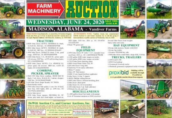 FARM MACHINERY AUCTION - Vandiver Farms