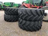 (4) 710/70R38 WHEELS AND TIRES