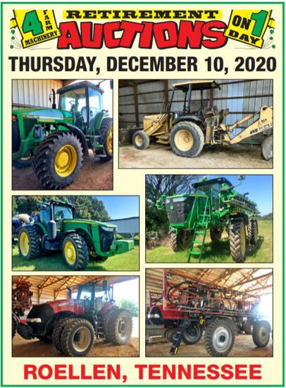 4 FARM MACHINERY RETIREMENT AUCTIONS ON 1 DAY