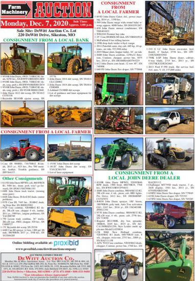A MONTHLY FARM MACHINERY AUCTION