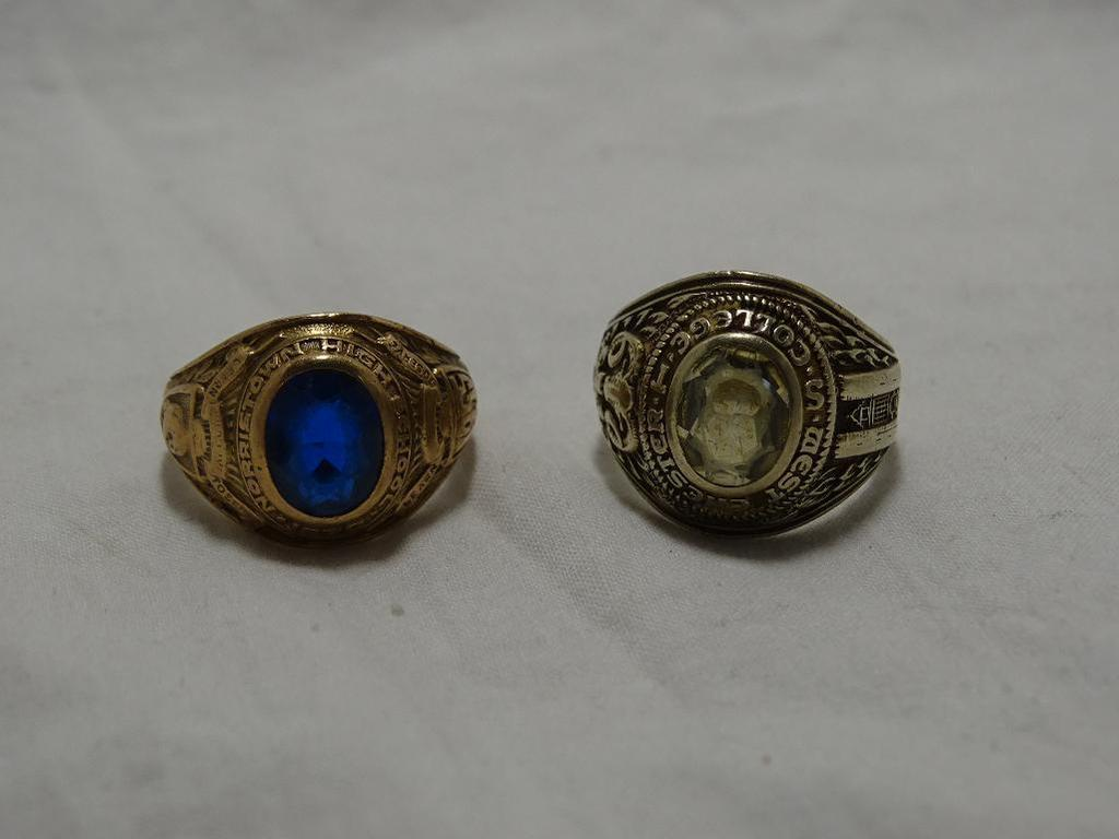 Two Gold School Rings