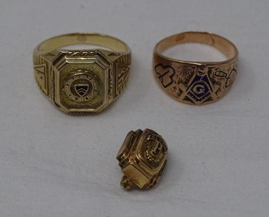 Gold Rings and pin