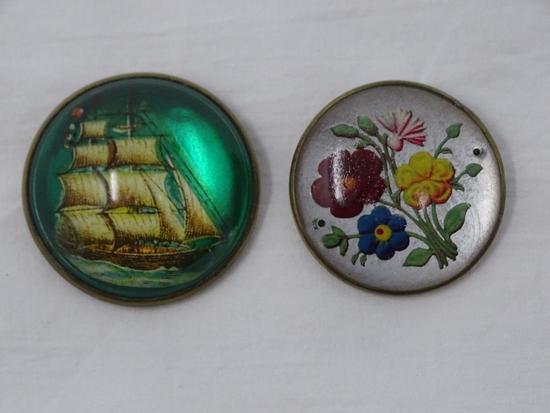 2 Rosette pins