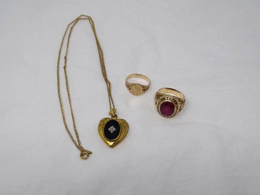 Rings and necklace
