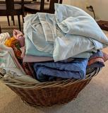 Basket of linens (Pick-up only)