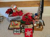 Large lot of new and vintage Christmas decorations (Pick-up only)
