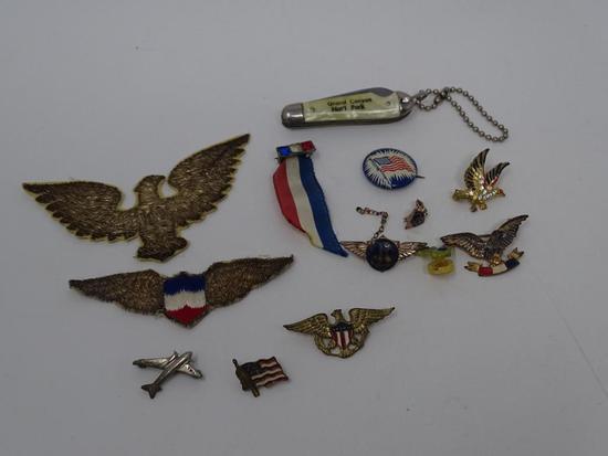 Patriotic Souvenir Pins and Patches