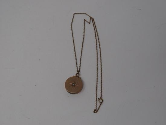 Gold-filled Locket on Chain