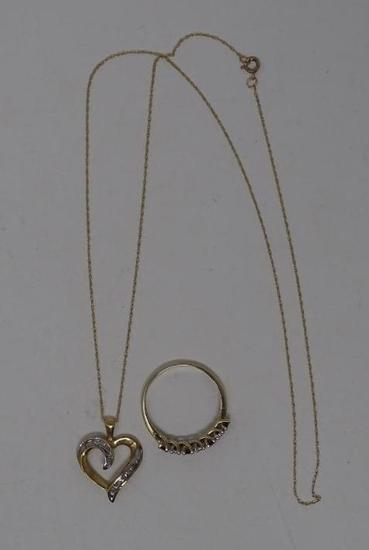 Gold Ring and Necklace