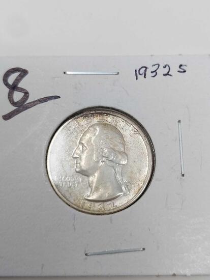 1932S Washington quarter, XF