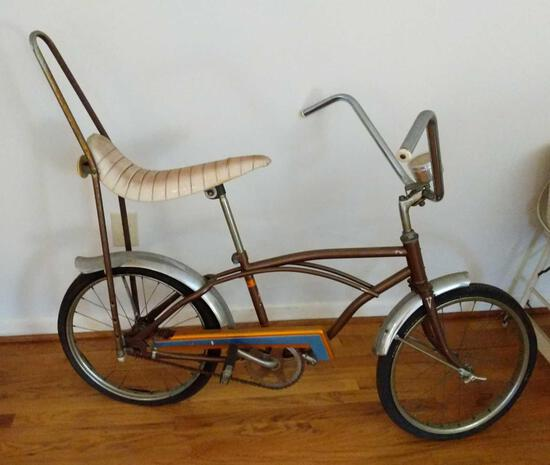 """Western Flyer 20"""" Bicycle with Banana Seat, Sissy Bar and Speedometer"""