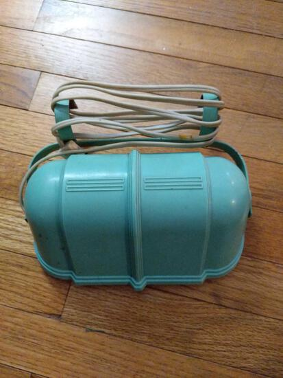 Vintage Turquoise Blue Clamp-On Lamp