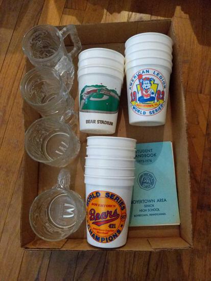 Boyertown Fan Cups, McDonalds Batman Glasses, etc.