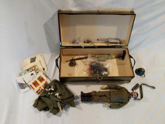 G.I. Joe Action Figure with Foot Locker and Contents