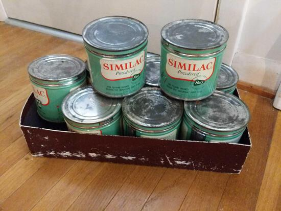 9 Vintage Cans of Similac Powdered Formula