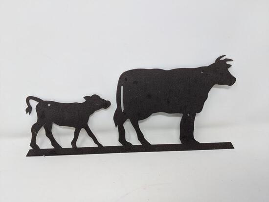 Metal Cow & Calf Silhouette