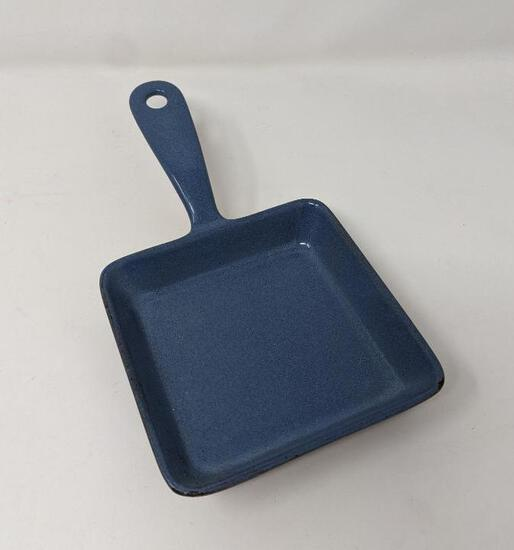 Enameled Cast Iron Small Square Fry Pan