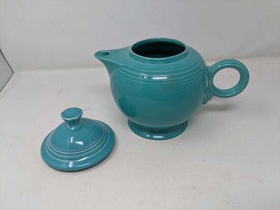 Turquoise Fiesta Lidded Tea Pot