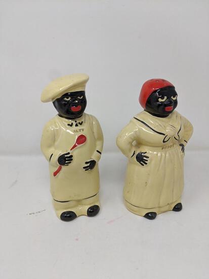 "Black Memorabilia- ""Salty"" & ""Peppy"" Shakers"