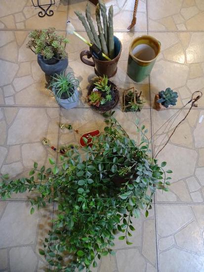 Decorative Artificial Plants, Planters