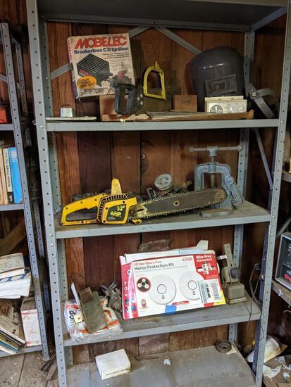 Contents of Metal Shelf