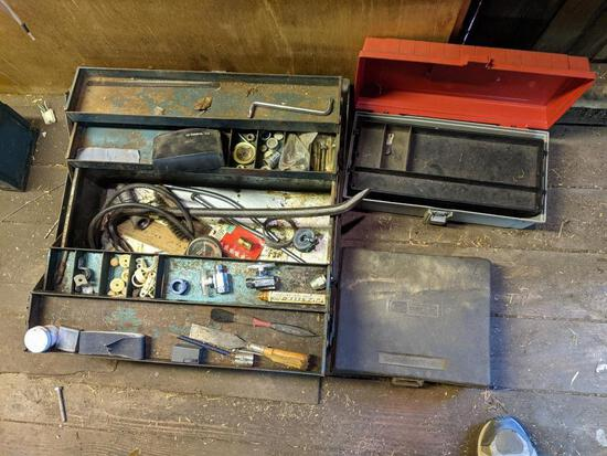 Tool Boxes with Contents and Craftsman Soldering Gun