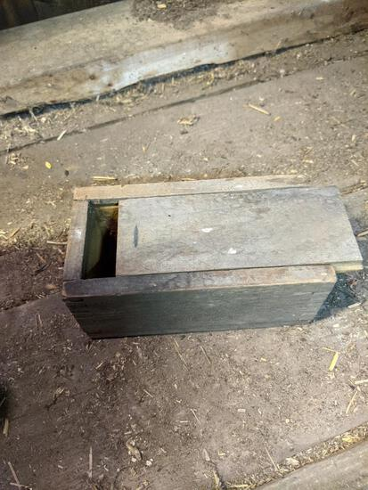 Wooden Box with Slide Lid