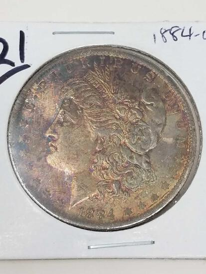 1884-O Toned BU Morgan Dollar