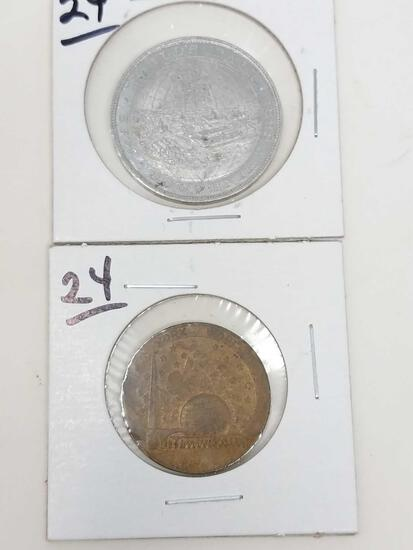 1893 Columbian Expo Aluminum; 1940 World's Fair Copper