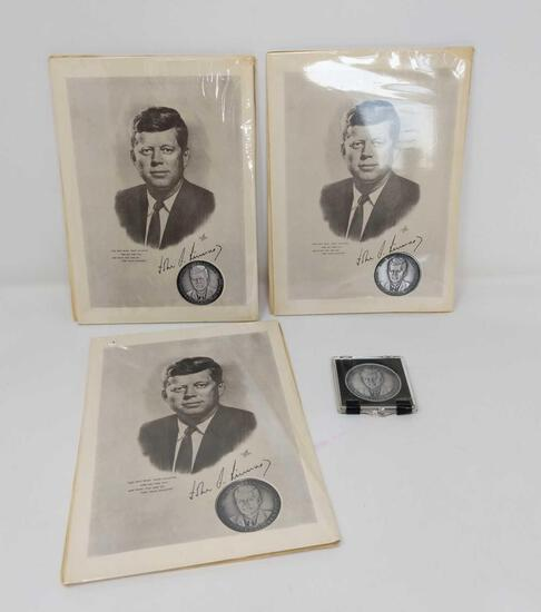 4 Kennedy Pewter Coins
