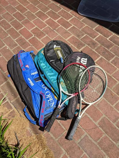 Tennis Rackets with Cases