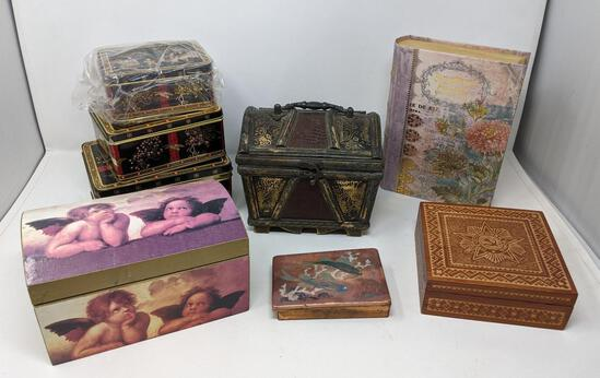 Grouping of Decorative Boxes
