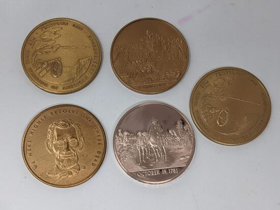 5 Large Bronze Medals