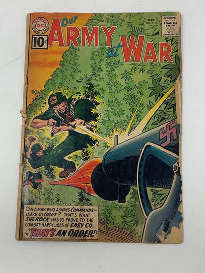 Our Amy At War, No. 110, Sept. 1961 Comic Book