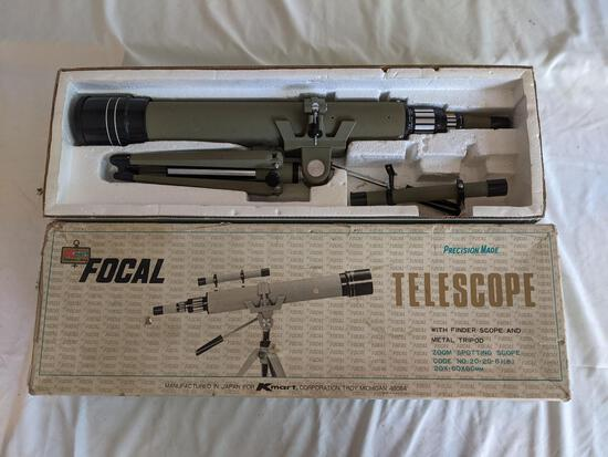 Vintage Focal 20-60 x 60mm Telescope with Box