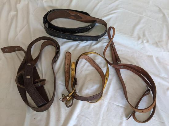 3 Shoulder Holster Belts & One Modified Belt
