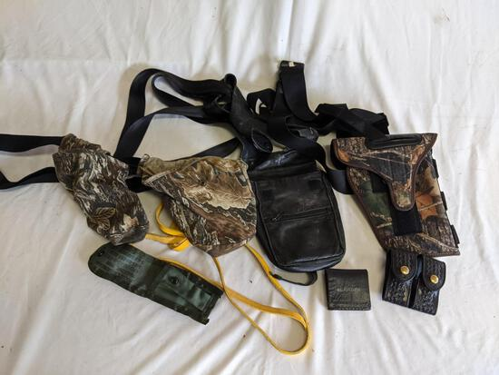 Web Belting with Camouflage Holsters, Other Cases