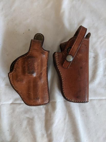 """2 Leather Holsters, approx. 7"""""""