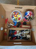 Plastic Toy Figures, Building Blocks and Other Toys
