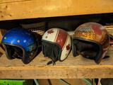 3 Vintage Helmets