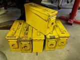 6 Metal Ammunition Boxes