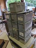 13 Plastic Ammo/Utility Boxes
